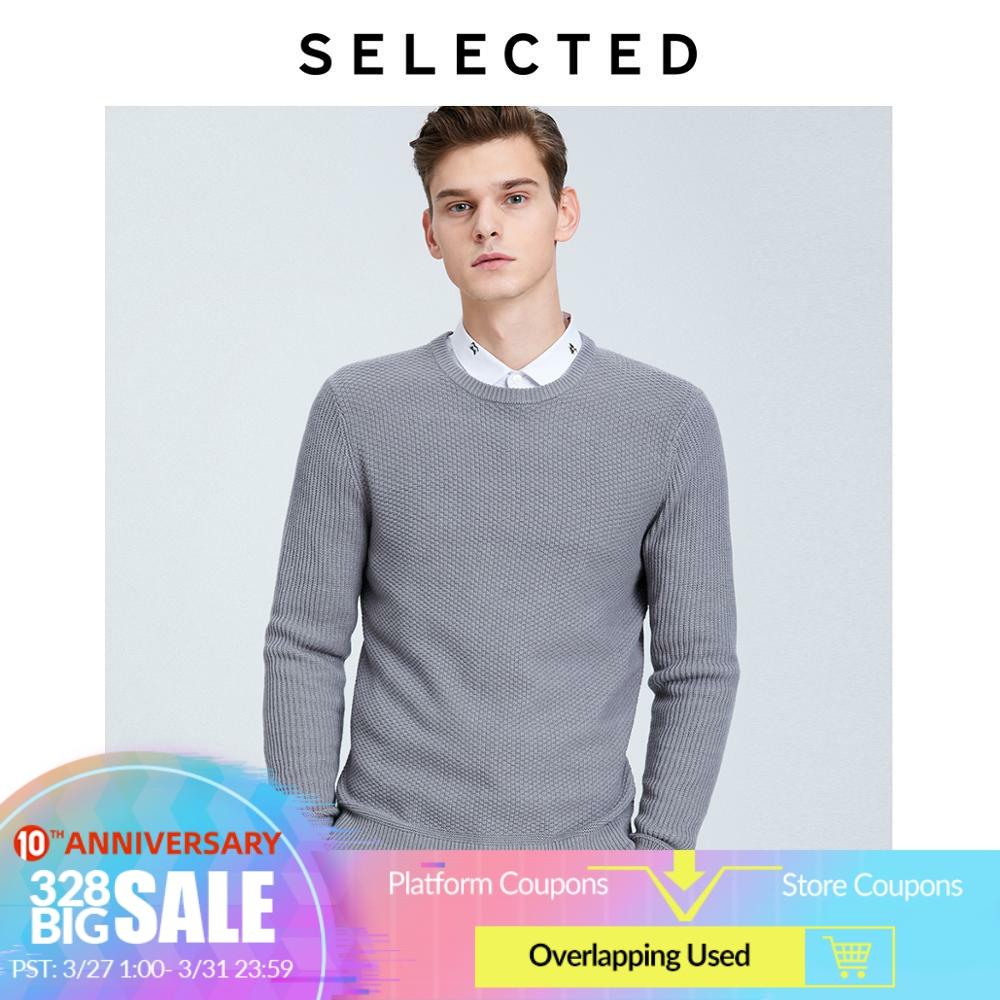 SELECTED Men's O-Neck Winter Sweater Pure Color Business-casual Knit Pullovers Clothes S | 419425513