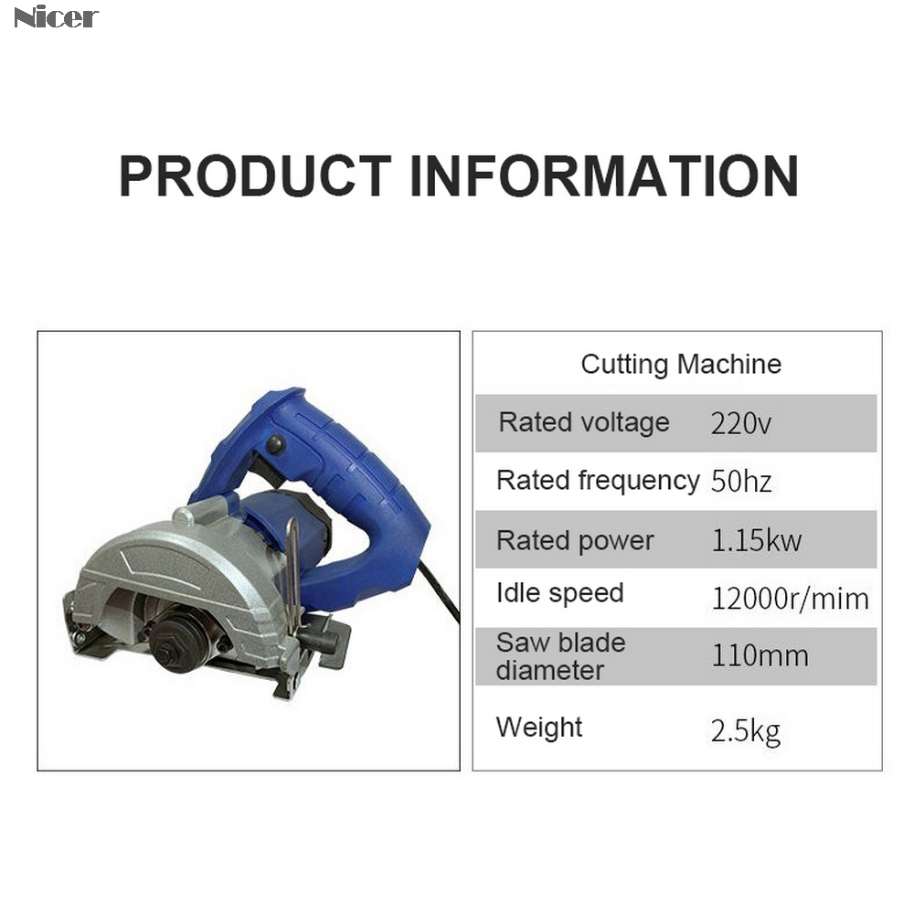 Tools : Multi Function Circular Saw For Stone Wood Metal Tile High Power Cutting Machine  Electric Saw Power Tools
