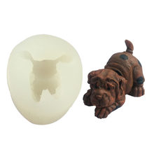 Familysky 3D Bulldog Forma Molde Do Bolo Do Silicone Bakeware Mould para Chocolate Jello Ferramentas Fondant DIY(China)