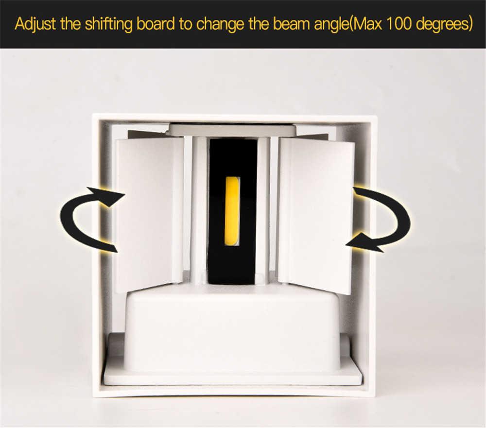IP65 светодиодный водонепроницаемый настенный светильник 12 Вт Внутренняя и наружная Регулируемая настенная лампа для двора крыльца коридора спальни бра