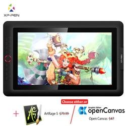 XP-Pen Artist15.6 Pro планшет для рисования графический монитор цифровой планшет анимационный Рисунок доска с 60 градусами наклона функция искусства