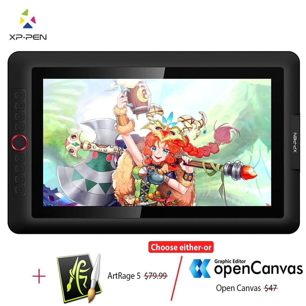 Xp-caneta artist15.6 pro desenho tablet gráfico monitor digital tablet animação desenho placa com 60 graus de inclinação função arte