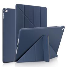Ultra-cienki TPU skrzynki pokrywa dla iPad Air2 Case 2018 9 7 #8222 silikonowy miękki powrót Pu skórzany Smart Case dla iPad 6 generacji Case 580 tanie tanio REDAMIGO Składany folio case 9 7 CN (pochodzenie) 580B Stałe 9 7inch Dla apple ipad iPad Air 2 Na co dzień A1822 A1823 A1893 A1954