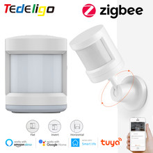 Zigbee Tuya Smart Life PIR Human Motion Sensor Detector Wireless Remote Control Compatible With Gateway Google Home Alexa Echo