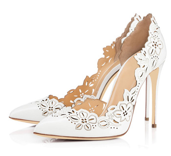 Classic Fashion Single Shoes Pointed Hollow Ultra-High Heel Women's Shoes Fashion Wedding Shoes Party Shoes