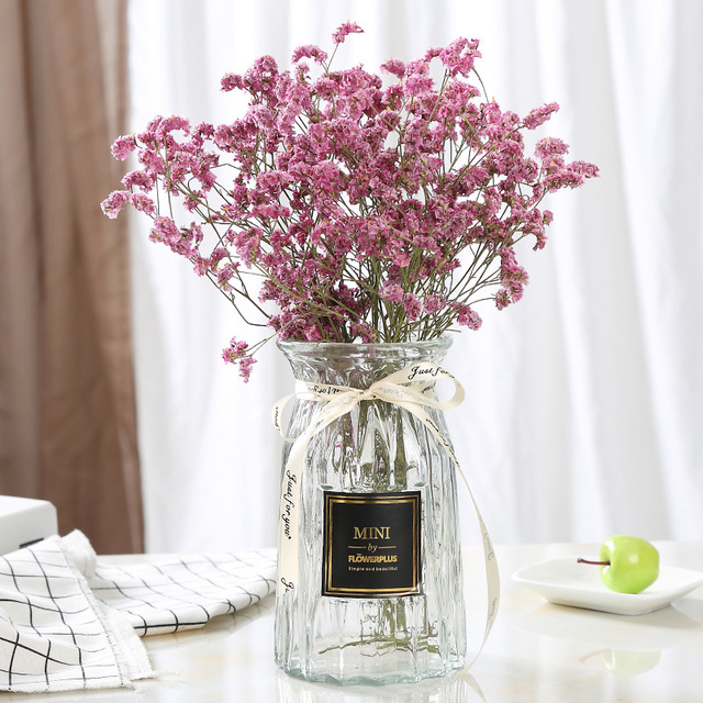 Contracted Flower Glass Vase Origami Flower Arranging Green Plants Hydroponic Device Nordic Vase Decoration Home Flower Vase