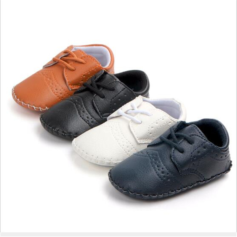 New Baby PU Leather Shoes Infants Boys Casual Shoes Newborn Soft Sole First Walkers Antislip Baby Shoes