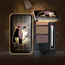 Egyptian style three-color eyebrow powder eye shadow repair three-in-one waterproof, natural and not easy to take off makeup