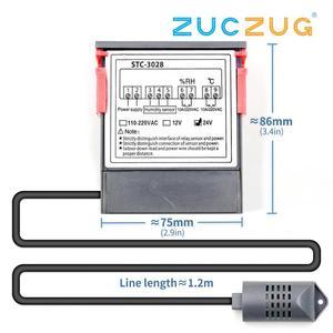 Image 2 - 12V 24V 220V 10A STC 3028 numérique température humidité mètre Thermostat double affichage thermomètre hygromètre réglable 0 ~ 100% RH
