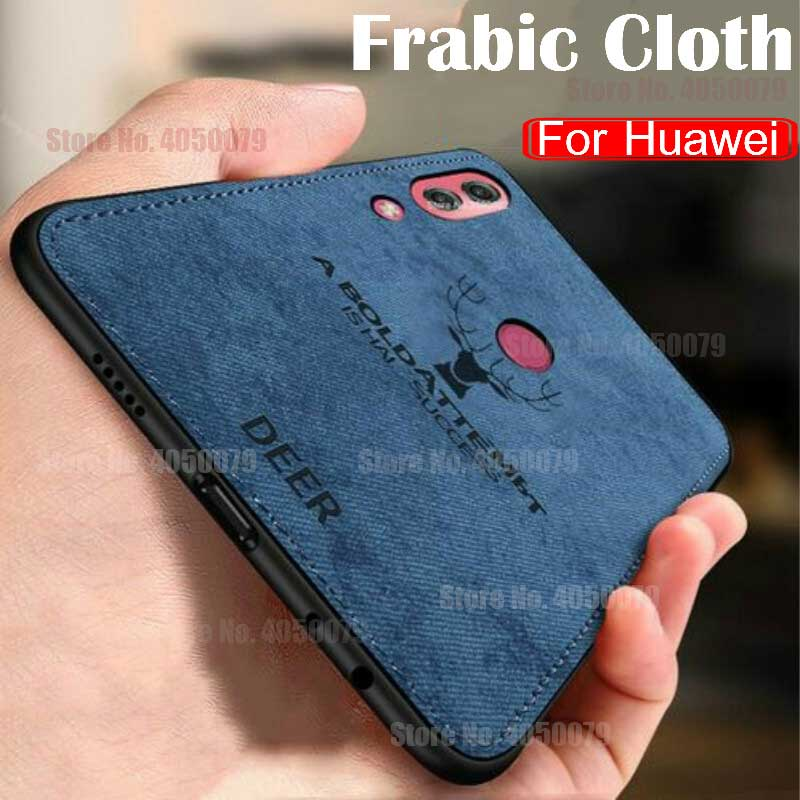 Luxury Cloth Deer Case For Huawei P Smart Plus P30 Y6 Y7 Pro Y5 Y9 2019 Mate20 Lite Case on Honor 20S 9X 10i 20i 8A 8X 8C Covers(China)