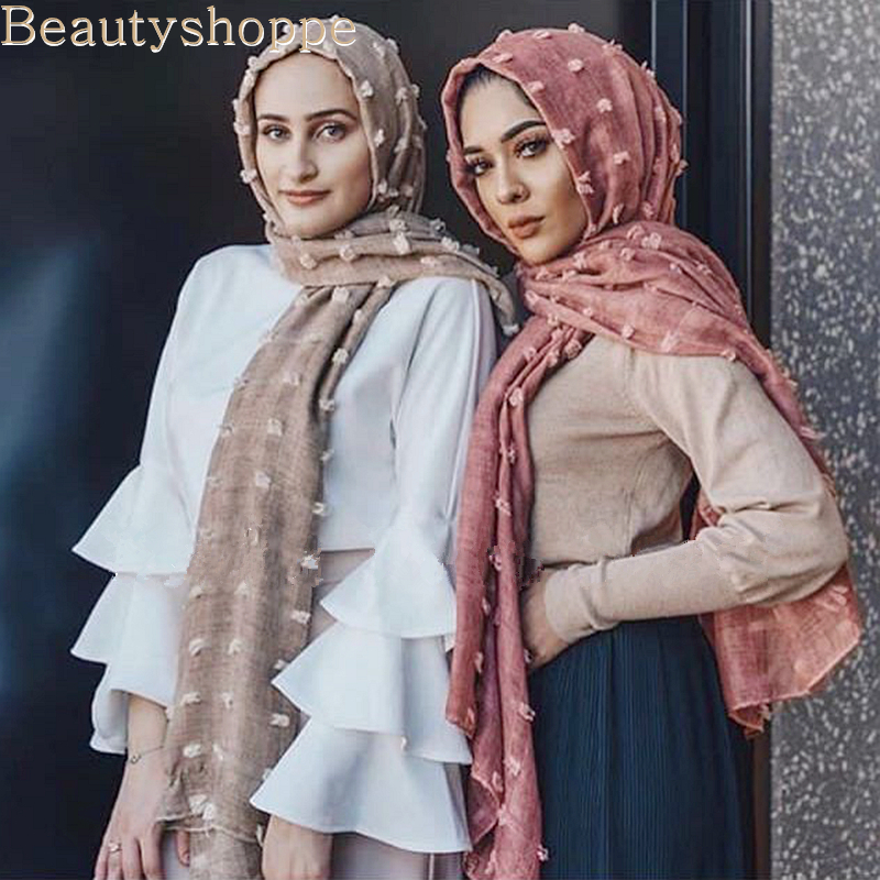 Шифоновые хиджабы-шарфы для мусульманских женщин, однотонный дышащий мусульманский платок для головы, новинка 2019