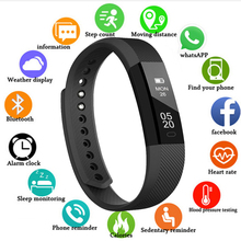 Smart Wristbands Fitness Tracker Smart Bracelet Men Pedometer Bluetooth Smartband Waterproof Sleep Monitor WristWatch PK Fitbits id115 smart bracelet band sleep activity fitness tracker alarm clock pedometer wristband for ios android pk fitbits smartband