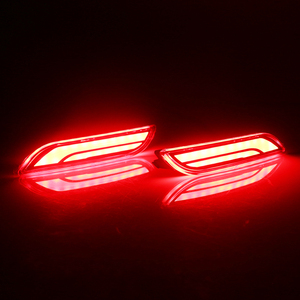 Image 4 - iJDM 3D Optic LED Bumper Reflector Lights For 2018 up Toyota Camry, Function as Tail, Brake Rear Fog Lamps and Turn Signal Light