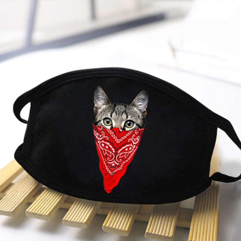 Mens/Women Cartoon Cute Cat Sloth Nope Reusable Face Soft Masks Comfortable Black Mask High Quality Antibacterial Dustproof Mask