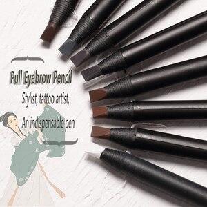Image 2 - 1PCS Matita Per Gli Occhi matita Cosmetica per ombretto Naturale di Lunga Durata Tatuaggio sopracciglia sopracciglio impermeabile di trucco di bellezza set