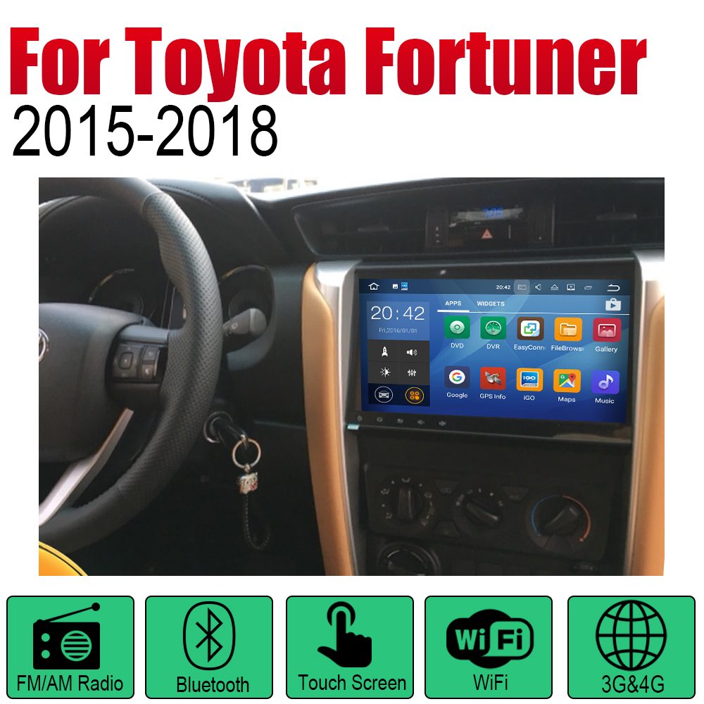 ZaiXi Android 2 Din Auto Radio DVD For Toyota Fortuner SW4 2015 2018 Car Multimedia Player GPS Navigation System Radio Stereo in Car Multimedia Player from Automobiles Motorcycles