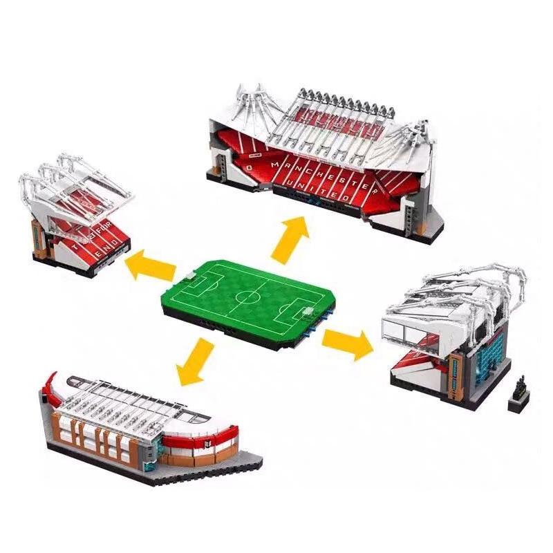 IN STOCK JJ000 10272 Old Trafford Manchester 4150PCS Creator City Street View Model Building Blocks Bricks Toys Kids Gift 10202 2