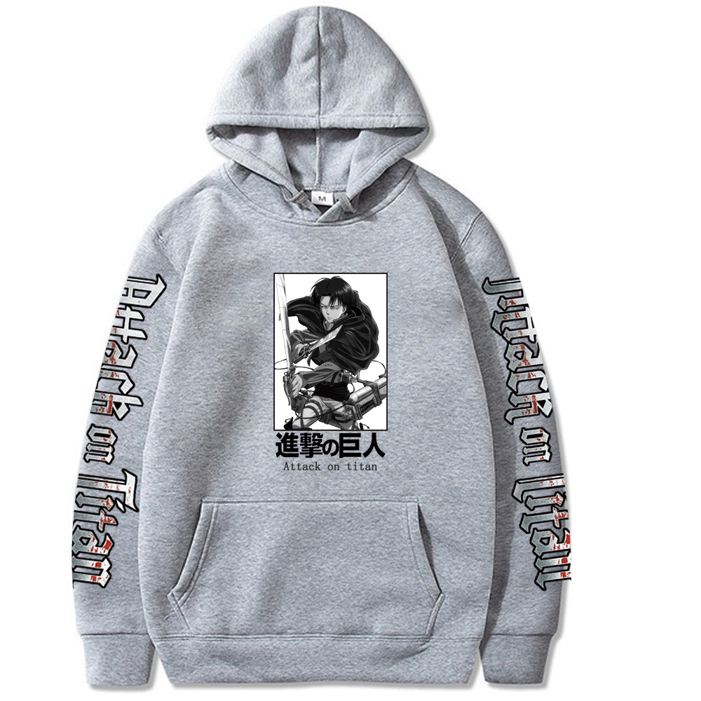 Men Women Attack on Titan Anime Hoodie Sweatshirt Jumper Casual Pullover Tops