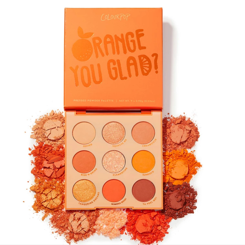 Colourpop 9 Colors Orange You Glad Glitter And Matte Eyeshadow Palette