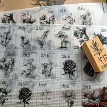 62 листа винтажные Декоративные наклейки для цветов и календарей