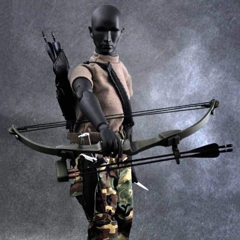 1:6 échelle X-TOYS mâle garçon noir arc et flèche tir flèche ensemble modèle F 12