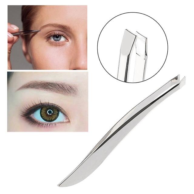 1 Pc Stainless Steel Anti-static Tweezers Watchmaker Clip Epilation Nose Eyebrow Eyebrow Tools Beauty Makeup Tweezers Tweez O9Y3 1