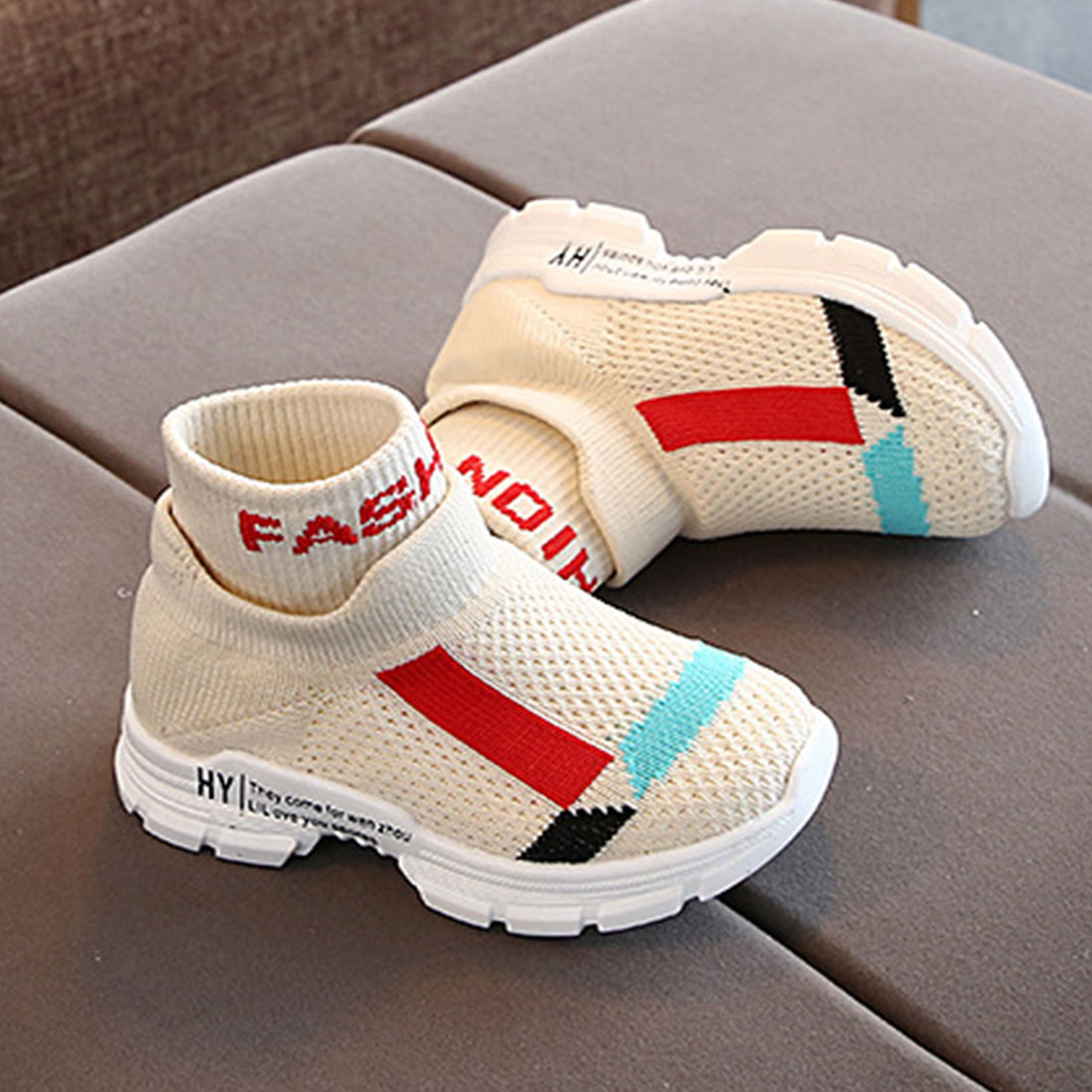 Baby Shoes Toddler Sneakers Breathable Soft Soled Casual Shoes Stretch Mesh Sport Run Sneakers Shoes