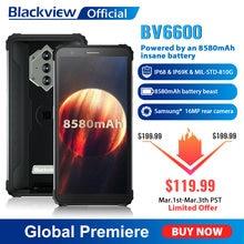 Blackview-teléfono inteligente BV6600, resistente al agua IP68, 8580mAh, ocho núcleos, 4GB + 64GB, pantalla FHD de 5,7 pulgadas, cámara de 16MP, NFC, Android 10