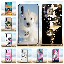 For Huawei P30 Case Ultra Thin Soft TPU Silicone ELE-L29 ELE-L09 Cover Animal Patterned Funda Capa