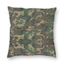 Pillow-Cover Camo Polyester-Decorative Pilot Throw Fighter Army Military