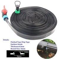 5~50m Drip Irrigation System Rain Drip Tape Farm Greenhouse Home Garden Plants Trickle Irrigation Drip Hose Emitter Inside|Watering Kits| |  -