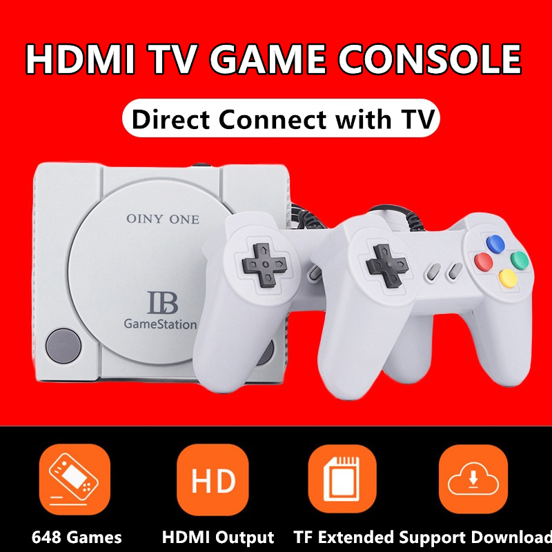 16Bit Mini HD HDMI TV Retro Family Video Game Console Handheld Built-in 648 Classic for NES Games Dual Gamepad Handheld Player