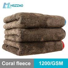 ล้างรถ1200GSM รายละเอียดรถผ้าเช็ดตัวไมโครไฟเบอร์ทำความสะอาดผ้าหนาซักผ้า Rag สำหรับรถยนต์ห้องครัว Car Care ผ้า