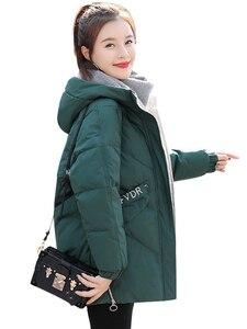 Image 5 - Guilantu kış ceket kadın artı boyutu 3xl ince kadın ceket kalın pamuklu yastıklı uzun Parkas Mujer kış kapşonlu parka kadın