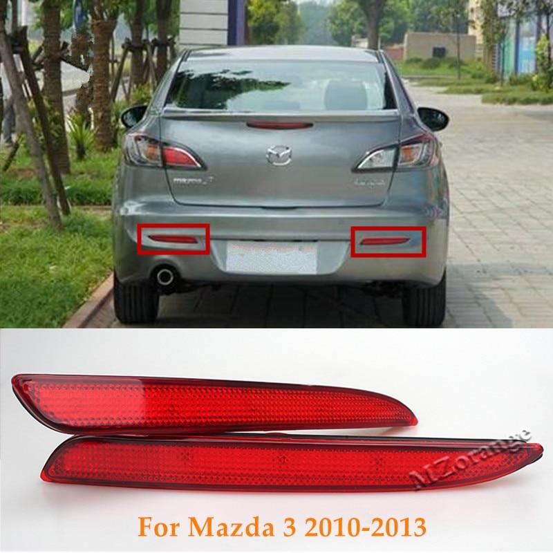 For 2004-2009 Mazda 3 Mazdaspeed3 Red Lens LED Rear Bumper Stop Brake Light Lamp