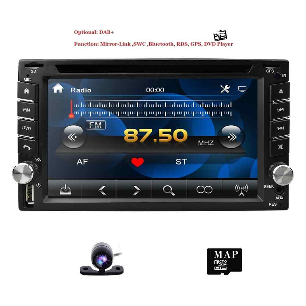 Auto Multimedia 2 Din Auto Dvd Speler Dubbel 2 Din Universele Autoradio Gps Navigatie In Dash Car Stereo Video gratis Kaart Camera Usb
