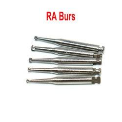 6Pcs Dental RA Carbide Burs Low Speed Round Drills Tungsten Steel Latch Type Shank Contra-Angle for Dental Turbine Endodontics