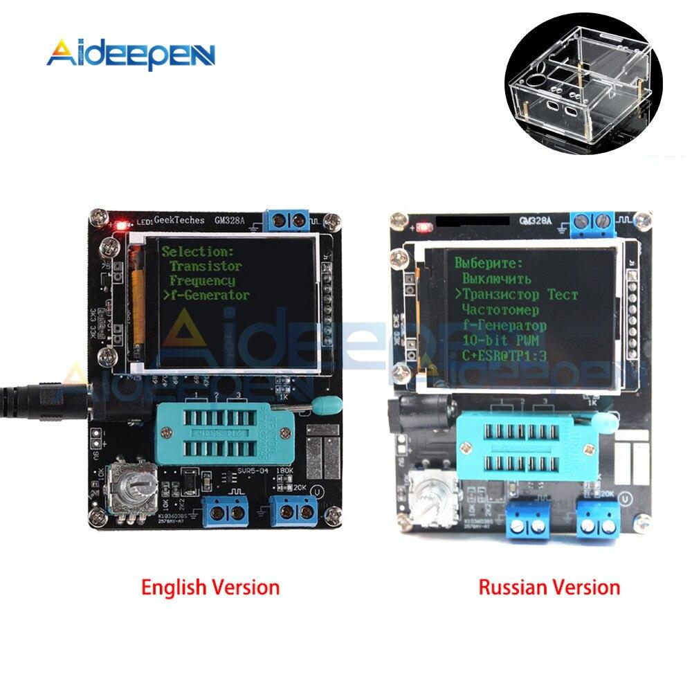 GM328A GM328B Transistor Tester Diodo di Capacità ESR LCR Misuratore di Frequenza di Tensione PWM Kit FAI DA TE con il Caso