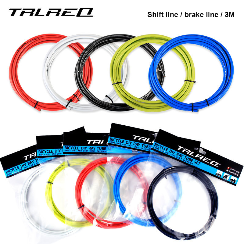3M Bicycle Brake Cables Universal MTB Mountain Road Bike Shift Line Gear Wire Pipe Brake Line Tube Housing 4mm 5mm Bike Parts