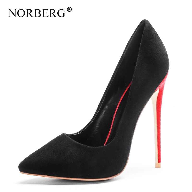 NOEBERG2019 new ladies high heels single shoes workplace shoes wedding shoes ladies shoes large size in Women 39 s Pumps from Shoes