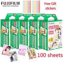 Fujifilm instax mini filme 60 80 100 folhas borda branca 3 Polegada filme largo para câmera instantânea mini 8 9 7s 25 50s 90 papel de foto + presente