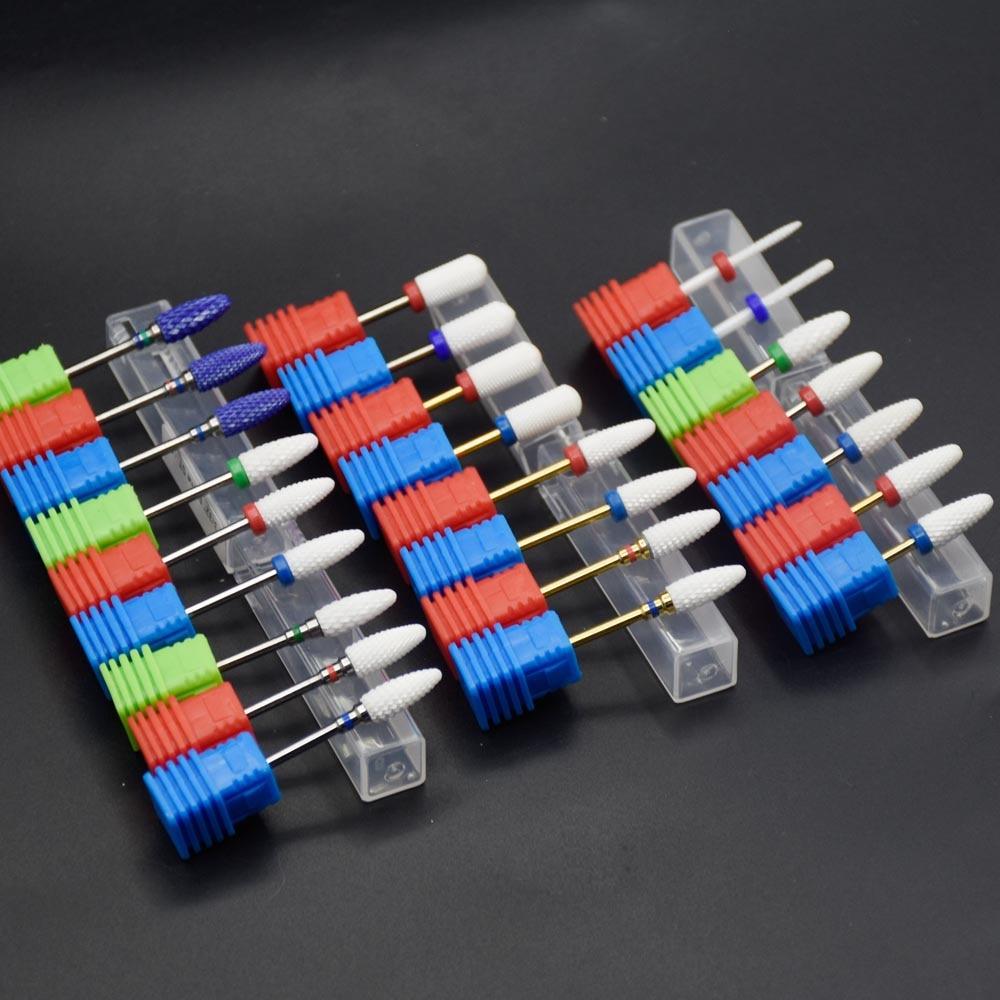 24 Type Ceramic Nail Drill Bit Manicure Machine Milling Cutter Manicure Electric Nail Drill Accessories,2.35mm