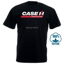 Мужская футболка чехол Ih трактор сельское хозяйство черная футболка S круглый вырез хлопок дна короткий рукав топы Женская одежда