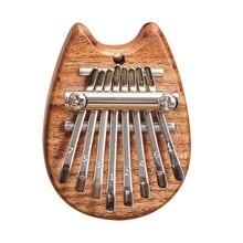 Kalimba Thumb Piano Mini Kalimba 8 Key Portable Mbira Finger Piano Best Gift for 87HF