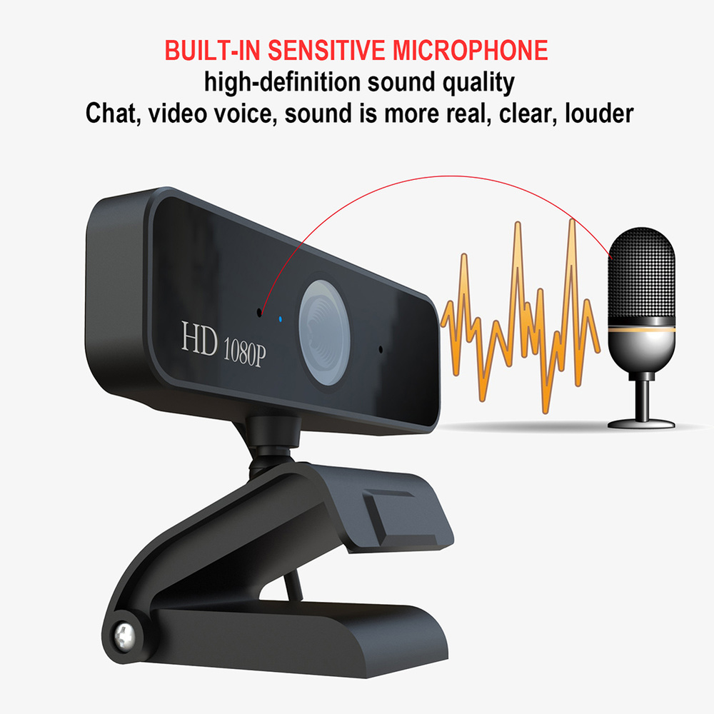 1080P HD 5MP Computer Camera USB Web Camera Webcams Built-In Sound-absorbing Microphone 1920 *1080 Dynamic Resolution NEW