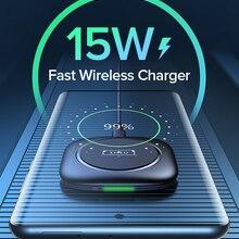 Беспроводное зарядное устройство INIU 15 Вт Qi, светодиодная подсветка для быстрой зарядки iPhone 12 11 Pro Max Xs Xr X 8 Plus Samsung S20 S10 S9 Note Huawei Xiaomi
