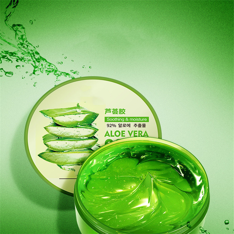 300g Aloe Vera Gel 92% Natural Face Creams Moisturizer Acne Treatment Gel Anti Wrinkle Anti Aging For Skin Repairing
