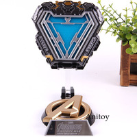 Avengers Iron Man Arc Reactor Marvel Database with LED Mark 50 Iron Man Action Figure PVC Collectible Model Decoration Toy