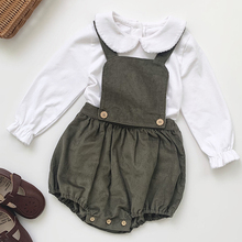Tops Baby-Boys-Girls Korean-Style Jumpsuit Long-Sleeve Toddler Fashion Overalls Corduroy