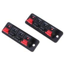 2 pièces en plastique 4 Positions connecteur Terminal enfichable Jack ressort charge haut-parleur bornes platine de prototypage Clips
